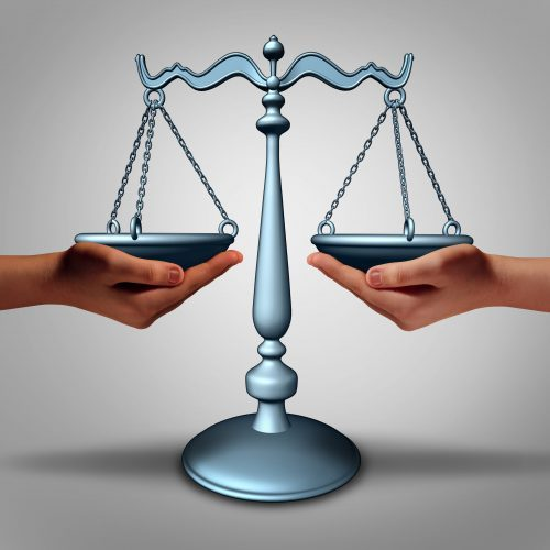 Legal Support - Scales and Hands
