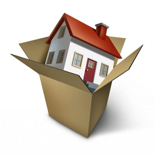 Moving,House,And,Move,Day,With,A,Model,Home,In